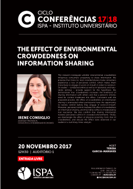 The effect of environmental crowdedness on information sharing
