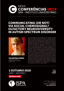Communicating (or not) via social chemosignal? Olfactory neurodiversity in autism spectrum disorder